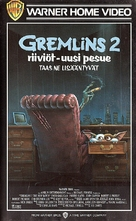 Gremlins 2: The New Batch - Finnish VHS movie cover (xs thumbnail)
