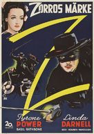 The Mark of Zorro - Swedish Movie Poster (xs thumbnail)