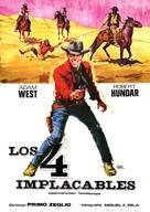 I quattro inesorabili - Spanish Movie Poster (xs thumbnail)
