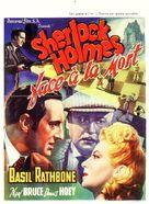 Sherlock Holmes Faces Death - Belgian Movie Poster (xs thumbnail)