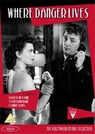 Where Danger Lives - British DVD movie cover (xs thumbnail)