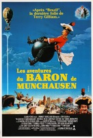 The Adventures of Baron Munchausen - French Movie Poster (xs thumbnail)