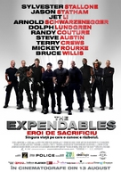 The Expendables - Romanian Movie Poster (xs thumbnail)