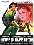Man Without a Star - French Movie Poster (xs thumbnail)