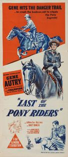 Last of the Pony Riders - Australian Movie Poster (xs thumbnail)