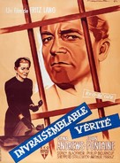 Beyond a Reasonable Doubt - French Movie Poster (xs thumbnail)
