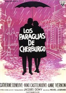 Les parapluies de Cherbourg - Spanish Movie Poster (xs thumbnail)