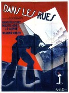 Dans les rues - French Movie Poster (xs thumbnail)