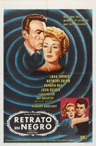 Portrait in Black - Puerto Rican Movie Poster (xs thumbnail)