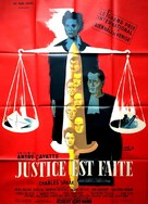 Justice est faite - French Movie Poster (xs thumbnail)