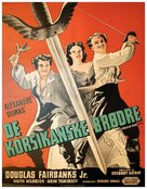 The Corsican Brothers - Danish Movie Poster (xs thumbnail)