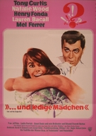 Sex and the Single Girl - German Movie Poster (xs thumbnail)