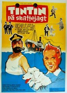 Tintin et le mystère de la toison d'or - Danish Movie Poster (xs thumbnail)