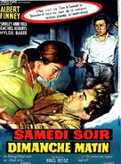 Saturday Night and Sunday Morning - French Movie Poster (xs thumbnail)