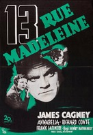 13 Rue Madeleine - Swedish Movie Poster (xs thumbnail)