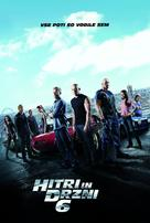 Furious 6 - Slovenian Movie Poster (xs thumbnail)