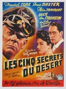 Five Graves to Cairo - Belgian Movie Poster (xs thumbnail)