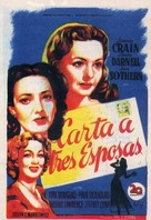 A Letter to Three Wives - Spanish Movie Poster (xs thumbnail)