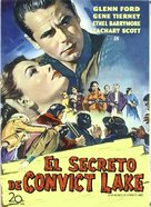 The Secret of Convict Lake - Spanish DVD movie cover (xs thumbnail)