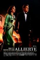 Allied - Norwegian Movie Poster (xs thumbnail)