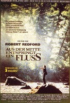 A River Runs Through It - German Movie Poster (xs thumbnail)
