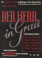 The Man in Grey - German Movie Poster (xs thumbnail)