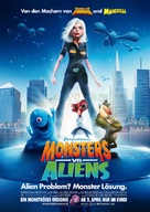 Monsters vs. Aliens - German Movie Poster (xs thumbnail)