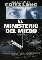 Ministry of Fear - Spanish Movie Poster (xs thumbnail)