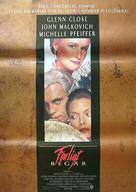 Dangerous Liaisons - Swedish Movie Poster (xs thumbnail)