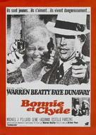 Bonnie and Clyde - French Movie Poster (xs thumbnail)