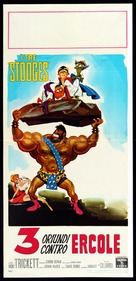 The Three Stooges Meet Hercules - Italian Movie Poster (xs thumbnail)