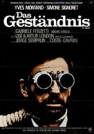 L'aveu - German Movie Poster (xs thumbnail)