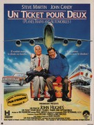 Planes, Trains & Automobiles - French Movie Poster (xs thumbnail)
