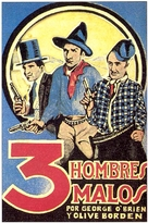 3 Bad Men - Spanish Movie Poster (xs thumbnail)