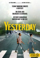 Yesterday - Hungarian Movie Poster (xs thumbnail)