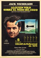 One Flew Over the Cuckoo's Nest - Spanish Movie Poster (xs thumbnail)