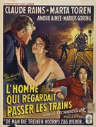 The Man Who Watched the Trains Go By - Belgian Movie Poster (xs thumbnail)