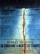 Un condamné à mort s'est échappé ou Le vent souffle où il veut - French Movie Poster (xs thumbnail)