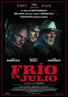 Cold in July - Spanish Movie Poster (xs thumbnail)