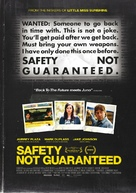 Safety Not Guaranteed - New Zealand Movie Poster (xs thumbnail)