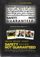 Safety Not Guaranteed - New Zealand Movie Poster (xs thumbnail)
