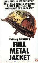 Full Metal Jacket - Norwegian VHS cover (xs thumbnail)