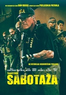 Sabotage - Croatian Movie Cover (xs thumbnail)