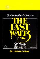 The Last Waltz - Spanish Movie Poster (xs thumbnail)