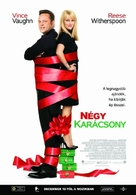 Four Christmases - Hungarian Movie Poster (xs thumbnail)