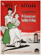Roman Holiday - Danish Movie Poster (xs thumbnail)