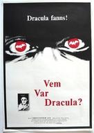 Vem var Dracula? - Swedish Movie Poster (xs thumbnail)