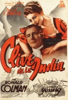 Clive of India - Spanish Movie Poster (xs thumbnail)
