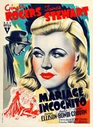 Vivacious Lady - French Movie Poster (xs thumbnail)