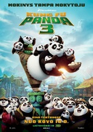 Kung Fu Panda 3 - Lithuanian Movie Poster (xs thumbnail)
